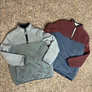 Boys Old Navy Sherpa lined pullovers. M(8) GUC